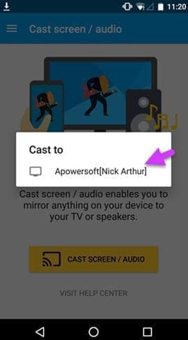 Google Cast for sharing