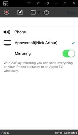 airplay wireless connection