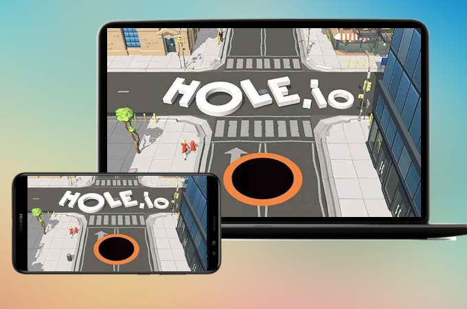 how to play hole.io on pc